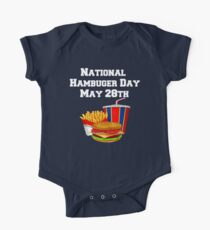 National Hamburger Day May 28 Fries Drink One Piece - Short Sleeve