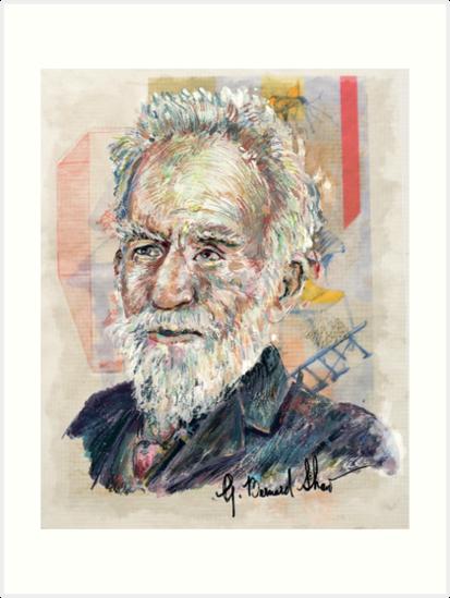 George Bernard Shaw Signature Portrait by Karl Frey