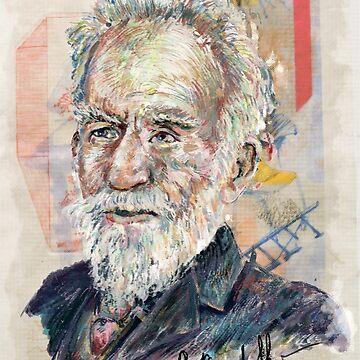 George Bernard Shaw Signature Portrait by karlfrey