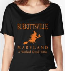 Burkittsville, Maryland - A Wicked Good Time - Witch Women's Relaxed Fit T-Shirt