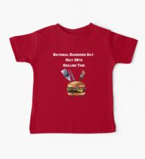 National Hamburger Day Grilling Time  Baby Tee