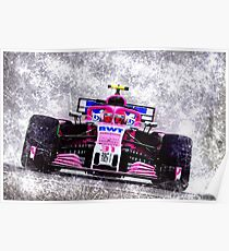Scratched Style - Ocon on the racetrack Poster