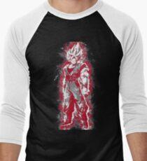 Aura Warrior RED Men's Baseball ¾ T-Shirt