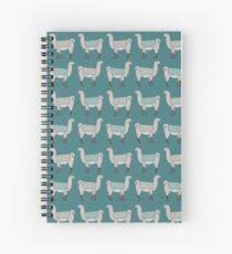 Llamas in Lines Spiral Notebook
