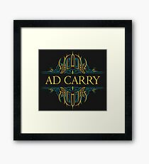 AD CARRY'S Framed Print