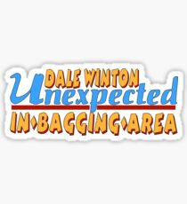Dale Winton Unexpected Item in the Bagging Area Supermarket Sweep RIP T-Shirt Sticker