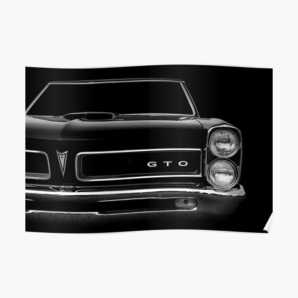 1965 Pontiac GTO - black Poster