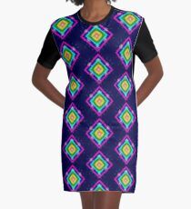 Circles and squares....fractal art. Graphic T-Shirt Dress
