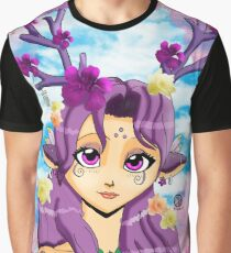 Spring Nymph Violet Graphic T-Shirt
