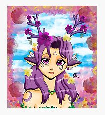 Spring Nymph Violet Photographic Print