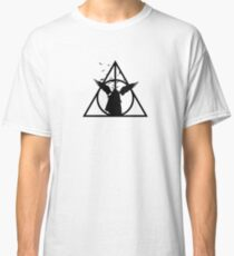 HP Hallows - The tale of 3 brothers (another version) with bats - wand, cloak, stone Classic T-Shirt