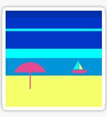 Summer wave on the calm sea Sticker