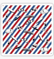 Barber Shop Pattern Sticker