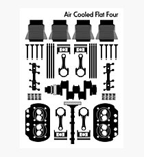 Air Cooled Flat Four (Black) Photographic Print