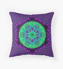 Purple  Flower Of Life  Throw Pillow