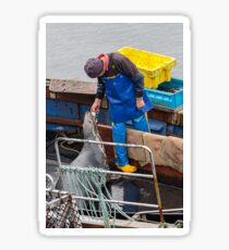 The sharing caring fisherman  Sticker