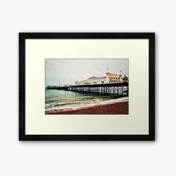 Brighton Palace Pier in Early Spring Framed Art Print