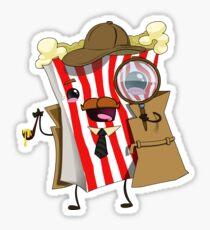 Detective Popcorn Sticker
