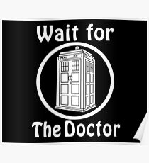 The doctor - black Poster