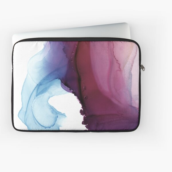 Shades of Purple, Abstract Fluid Artwork Laptop Sleeve