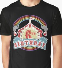 Circus Carnival Birthday 6th Birthday Party Kids Shirt Graphic T-Shirt