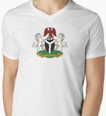Flag of the President of Nigeria Men's V-Neck T-Shirt