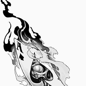 Flaming spades by phantomlimb