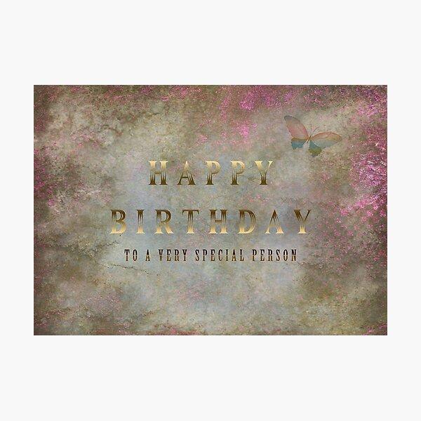 Happy Birthday Photographic Print
