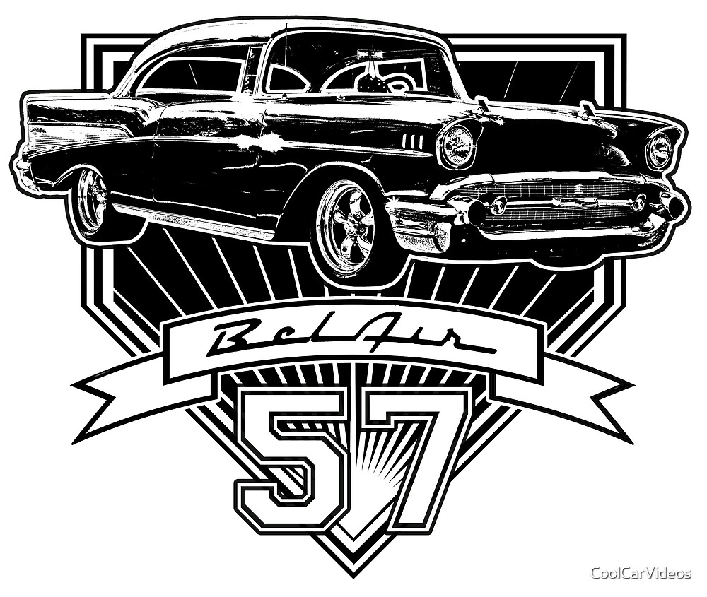 57 chevy belair t-shirt