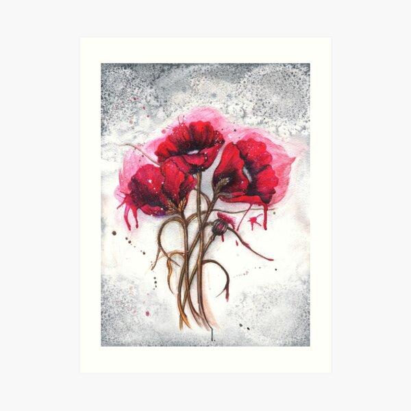 Lisa's Poppies Art Print