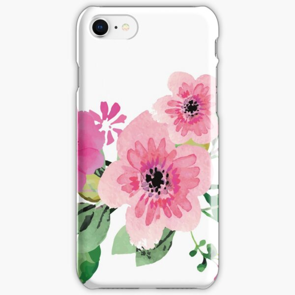 Best pink floral bouquet iPhone Snap Case
