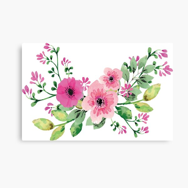 Best pink floral bouquet Canvas Print