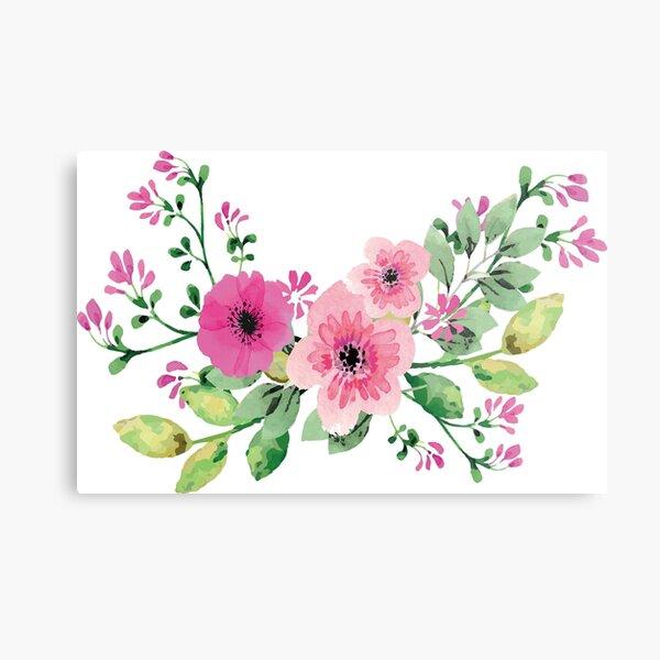 Best pink floral bouquet Metal Print