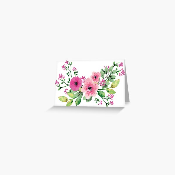 Best pink floral bouquet Greeting Card