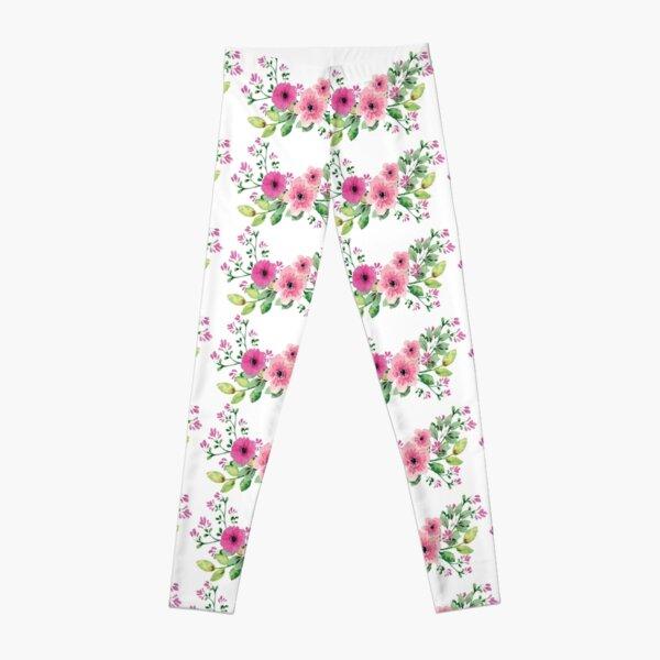 Best pink floral bouquet Leggings