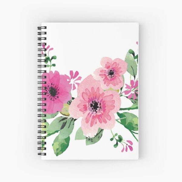 Best pink floral bouquet Spiral Notebook