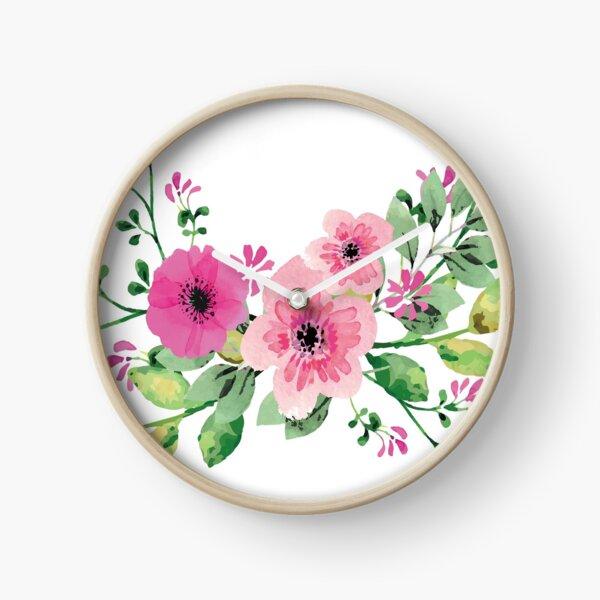 Best pink floral bouquet Clock
