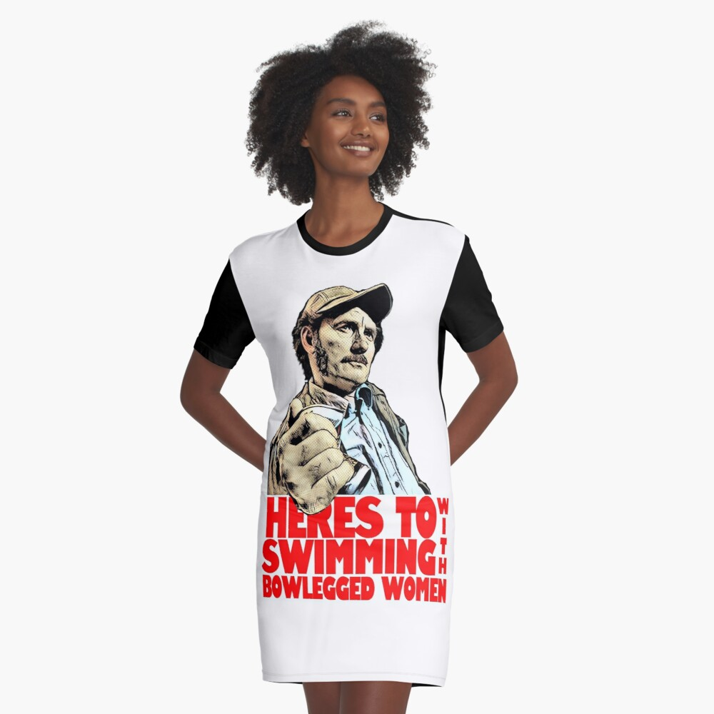 Quint- Jaws Graphic T-Shirt Dress
