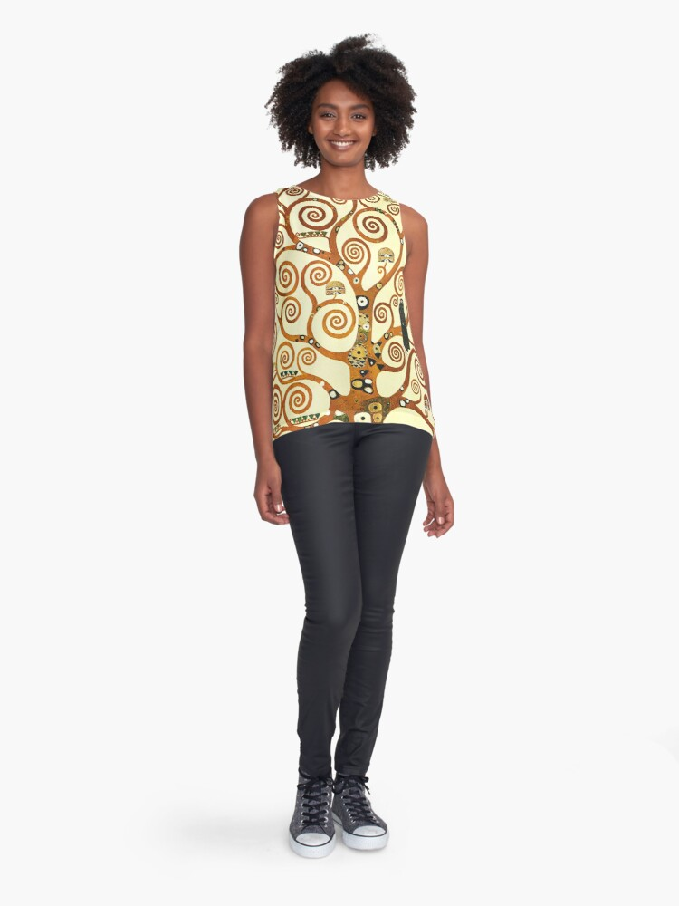 Alternate view of HD The Tree of Life, 1905 by Gustav Klimt - HIGH DEFINITION Sleeveless Top