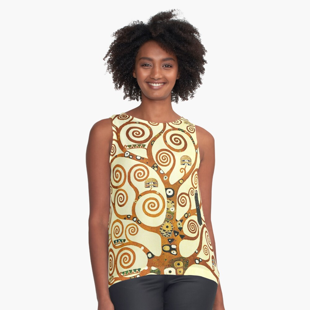HD The Tree of Life, 1905 by Gustav Klimt - HIGH DEFINITION Sleeveless Top
