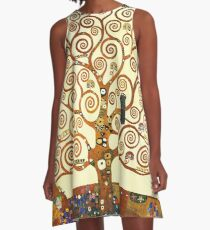 HD The Tree of Life, 1905 by Gustav Klimt - HIGH DEFINITION A-Line Dress