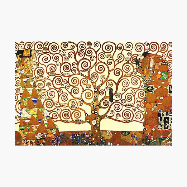 HD L'arbre de la vie, 1905 par Gustav Klimt - HAUTE DÉFINITION Impression photo