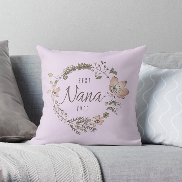 Best Nonna Ever Throw Pillow By Cidolopez Redbubble