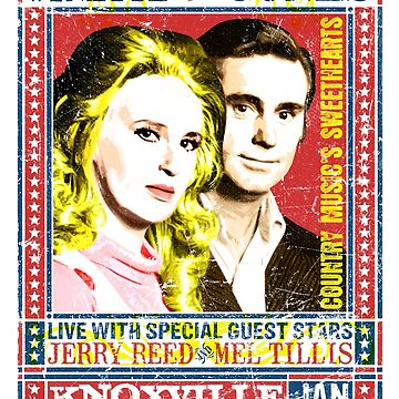 Tammy Wynette and George Jones. Concert Poster. Knoxville. Nashville. TN. by unclegertrude