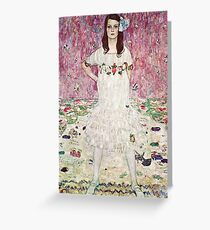HD Mada Primavesi, or Girl In White, by Gustav Klimt 1912 HIGH DEFINITION Greeting Card