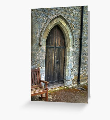 The Door - St Gregory's Minster Greeting Card