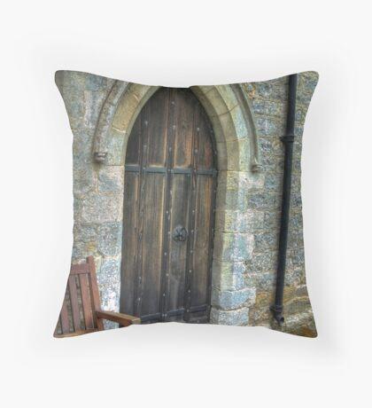 The Door - St Gregory's Minster Throw Pillow