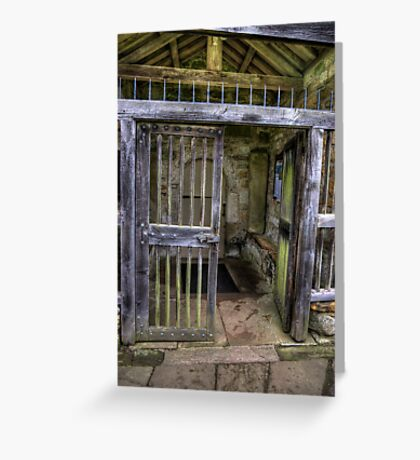 The Gate - St Gregory's Minster Greeting Card