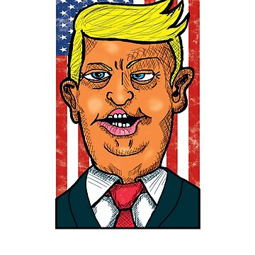 Funny President Trump Caricature Shirt by robertaccomando