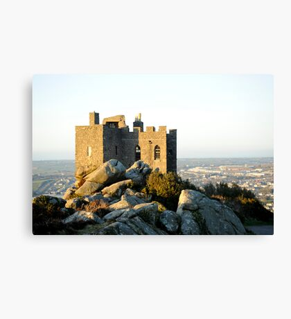 Carn Brea Castle: Redruth Cornwall UK Canvas Print
